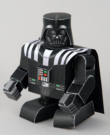 Papercraft imprimble y armable de Darth Vader. Manualidades a Raudales.