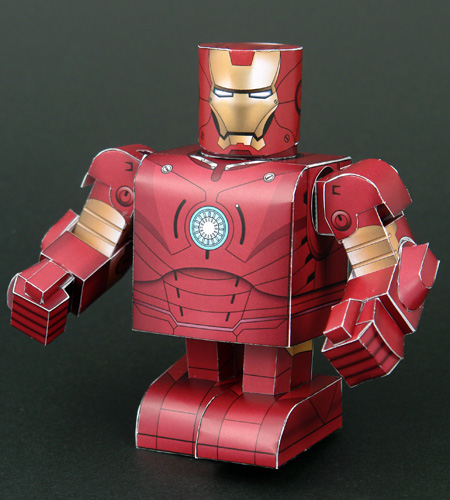 Papercraft imprimible y armable de Ironman. Manualidades a Raudales.