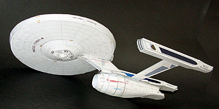 Maqueta 3D de la nave Enterprise de Star Wars.