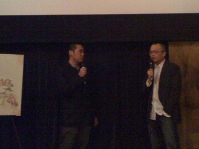 土居伸彰氏(左)と山村浩二氏。