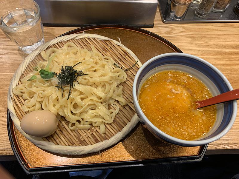 双麺 錦糸町店の極太平打ちつけ麺 味噌。